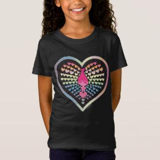 Camiseta Corações da papoila dos troll |