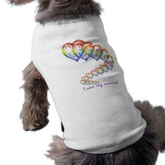 Camiseta Corações do arco-íris que descem