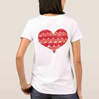 Camiseta Corações dos doces em seguido, coração dado forma