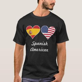 Camiseta Corações espanhóis da bandeira americana