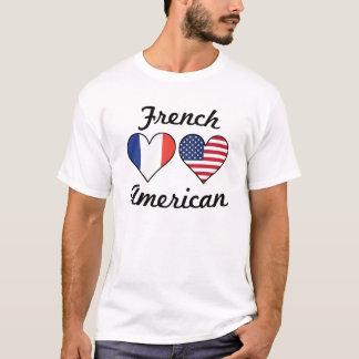 Camiseta Corações franceses da bandeira americana