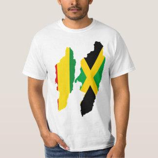 Camiseta Corações, Jamaica e Rasta/Etiópia duplos