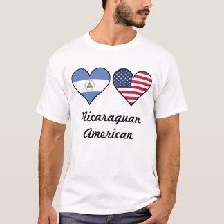 Camiseta Corações nicaraguenses da bandeira americana
