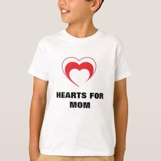 Camiseta Corações para a mamã - t-shirt