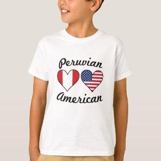 Camiseta Corações peruanos da bandeira americana