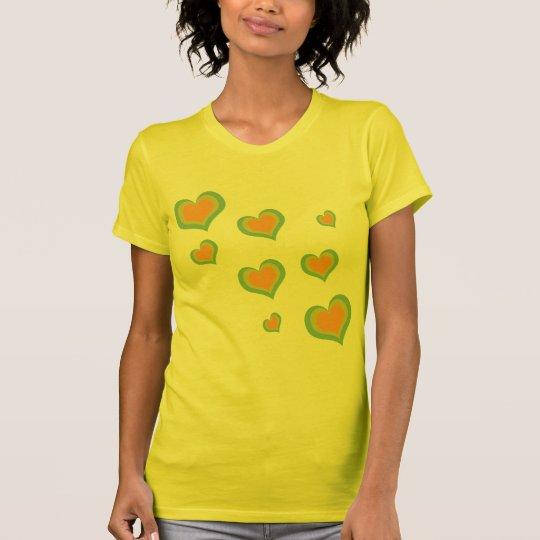 Camiseta Corações retros do amor para o dia dos namorados