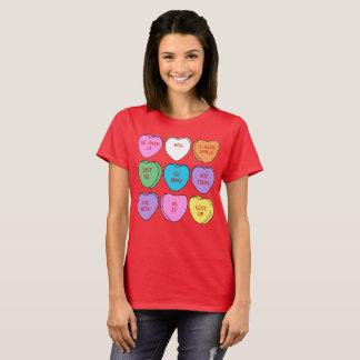 Camiseta Corações sarcásticos da conversação do dia dos