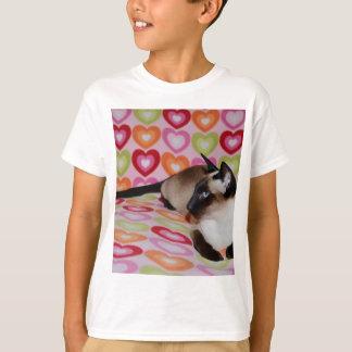 Camiseta Corações sonhadores do gato Siamese