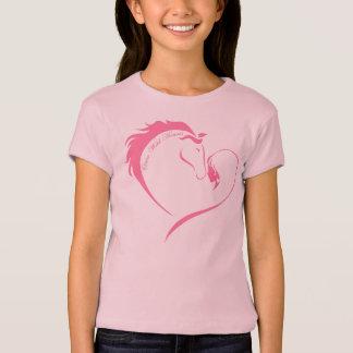 Camiseta Corações uma vez selvagens - T das meninas