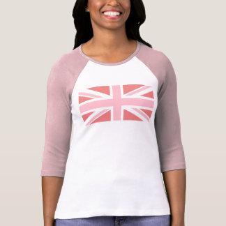 Camiseta Coral claro e Union Jack cor-de-rosa