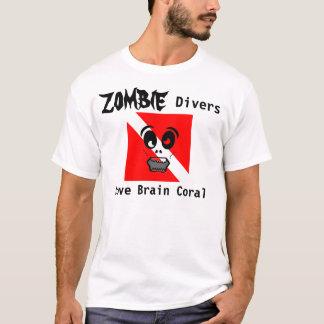 Camiseta Coral de cérebro do amor dos mergulhadores do