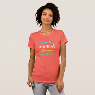 Camiseta Coral impressionante Colo do t-shirt das montanhas