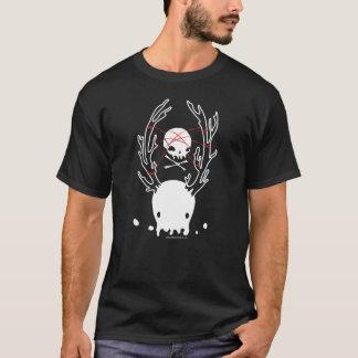 Camiseta Corda assustador do crânio das medusa dos cervos
