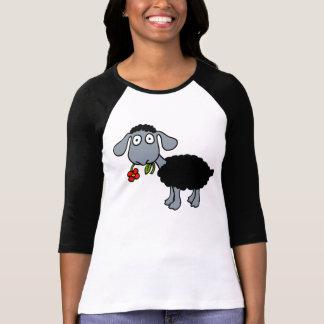 Camiseta Cordeiro das ovelhas negras com branco cinzento da