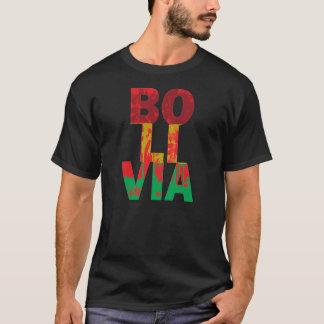 Camiseta Cores da bandeira da palma de Bolívia