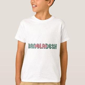 Camiseta Cores da bandeira da tipografia de Bangladesh 3Sul