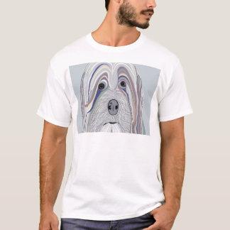 Camiseta Cores da sarja de Nimes de Havanese