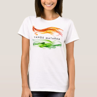 Camiseta Cores de Vande Mataram de India