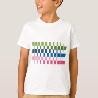 Camiseta cores do inclinação