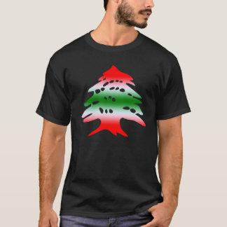 Camiseta Cores e símbolo da bandeira de Líbano