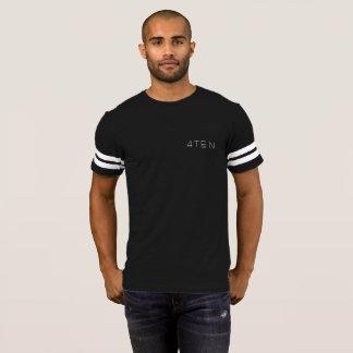 Camiseta cores escuras listradas do braço 4TEN
