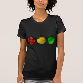 Camiseta Cores horizontais do sinal de trânsito do ponto