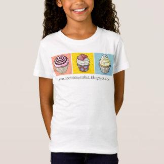 Camiseta cores preliminares do trio do cupcake