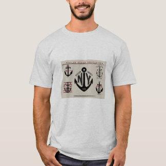 Camiseta Cores tradicionais dos ícones náuticos da âncora