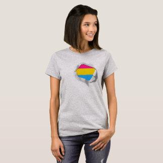 Camiseta Cores verdadeiras Pansexual da bandeira LGBT do