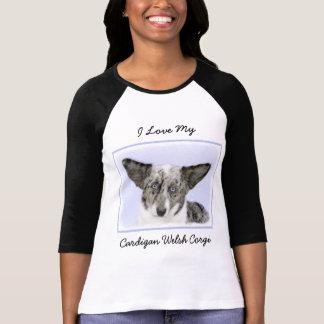 Camiseta Corgi de Galês do casaco de lã