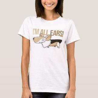 Camiseta Corgi de sorriso dos desenhos animados