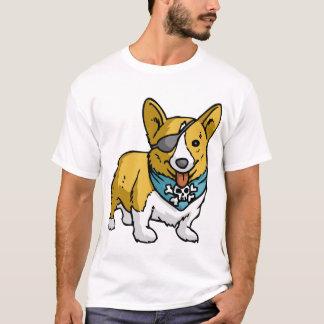 Camiseta Corgi do pirata