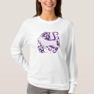 Camiseta Corgi roxo de Galês do casaco de lã do redemoinho