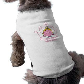 Camiseta Coroa aguçado do rosa cinco pequenos da senhorita