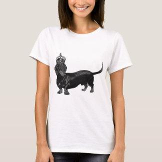 Camiseta Coroa considerável do Dachshund do cão real
