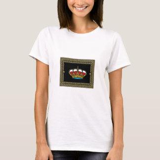 Camiseta coroa quadro preto da glória