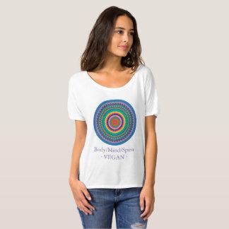 Camiseta Corpo, mente e espírito no equilíbrio. Vegan.
