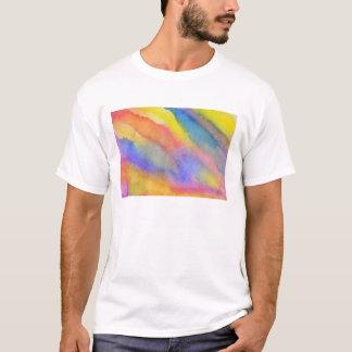 Camiseta Corrediça do arco-íris da aguarela