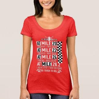 Camiseta Corredor de maratona da menina 26,2 MILHAS