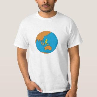 Camiseta Corredor de maratona que funciona em torno do