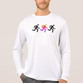 Camiseta Corredor de solo do centro de detecção e de