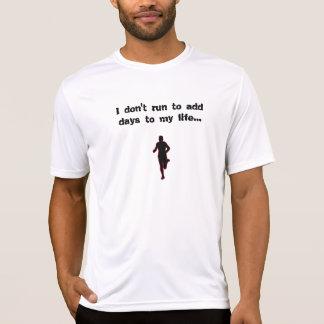 Camiseta corredor, eu não funciono para adicionar dias a
