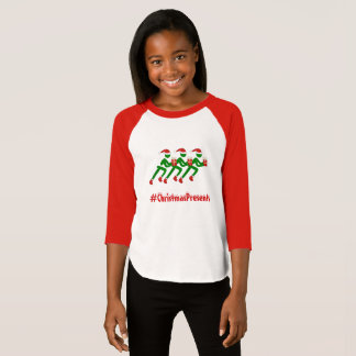 Camiseta Corredores feitos sob encomenda do Natal do texto
