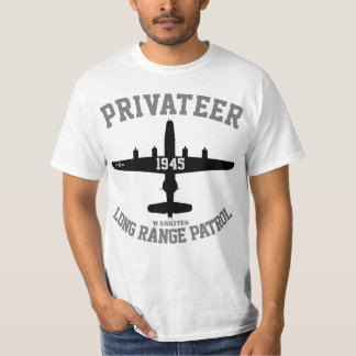 "Camiseta Corsário da ""patrulha de Warkites PB4Y longa"