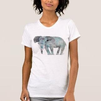 Camiseta Corte da aguarela do elefante no tshirt por