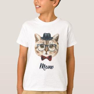 Camiseta Corte o gatinho do gato do hipster do vintage que