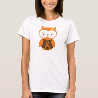 Camiseta Coruja alaranjada da consciência da fita