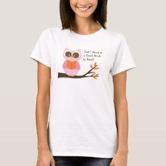 Camiseta Coruja bonito da leitura