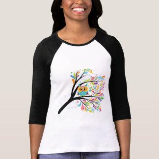 Camiseta Coruja colorida