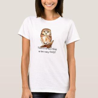 Camiseta Coruja da aguarela nenhuma tal coisa corujas